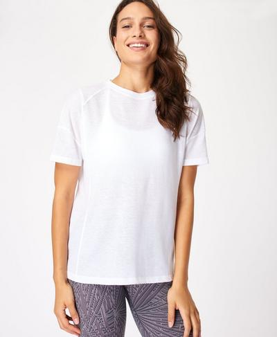 Flex Workout Tee, White | Sweaty Betty