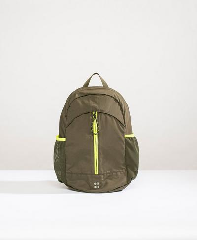 Packaway Hiking Backpack, Dark Forest Green | Sweaty Betty