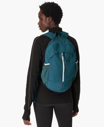 Packaway Hiking Backpack, Teal Blue | Sweaty Betty