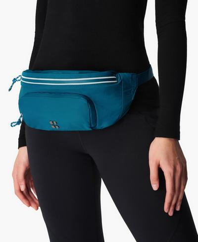 Hiking Bumbag, Teal Blue | Sweaty Betty