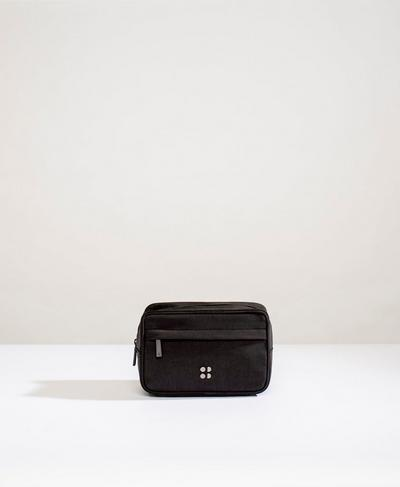 Utility Essentials Washbag, Black | Sweaty Betty
