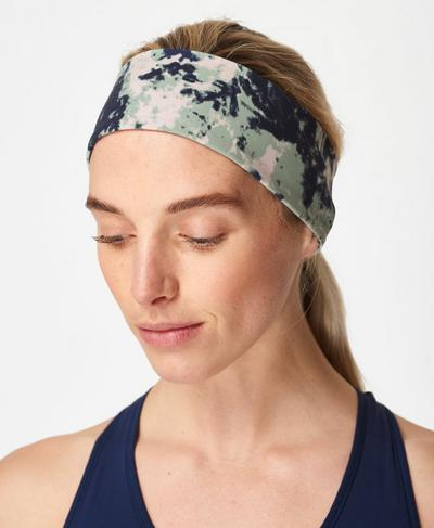 Power Headband, Green Tie Dye Print | Sweaty Betty