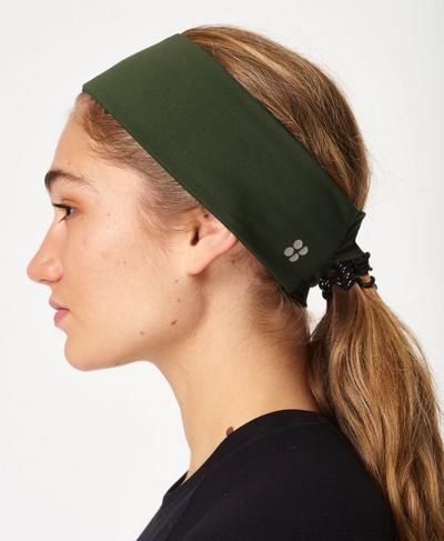 Power Headband, Olive Green | Sweaty Betty