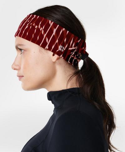 Power Headband, Red Fan Print | Sweaty Betty