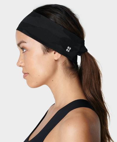Power Headband, Ultra Black Camo Print | Sweaty Betty