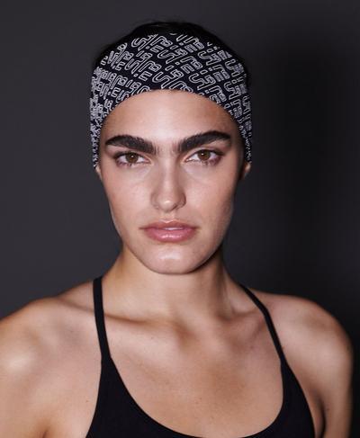 Power Reflective Headband, Black SBHB Reflective Print | Sweaty Betty