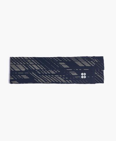 Power Reflective Headband, Blue Format Reflective Print | Sweaty Betty