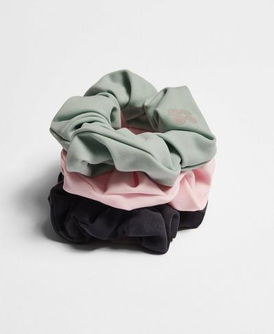 Scrunchie 3 Pack, Black Tonal Camo Print | Sweaty Betty