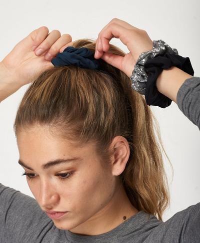 Scrunchie 3 Pack, Foil Print | Sweaty Betty