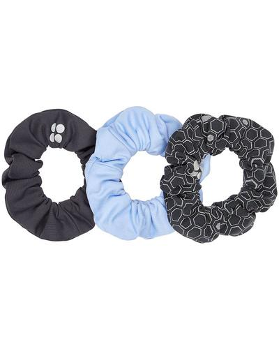 Scrunchie 3 Pack, Grey Reflective Geo Print | Sweaty Betty
