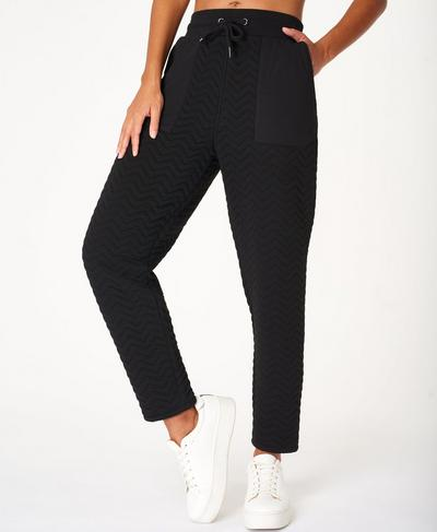 Ramble Quilted Trouser, Black | Sweaty Betty