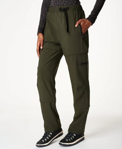 Tracker Zip Hiking Pants, Dark Forest Green | Sweaty Betty