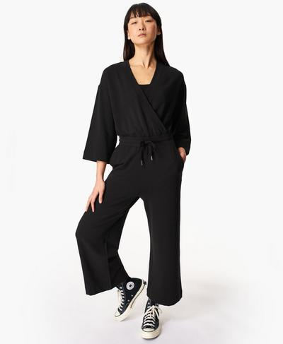 Rest Days Jumpsuit, Black | Sweaty Betty