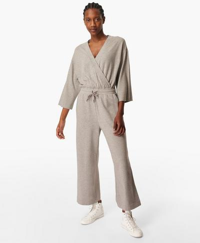 Rest Days Jumpsuit, Mid Grey Marl | Sweaty Betty
