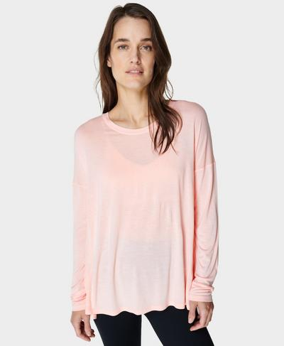 Easy Peazy Top, Antique Pink | Sweaty Betty