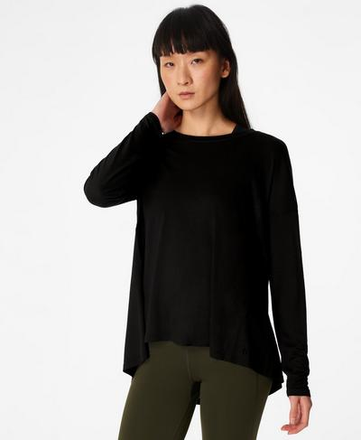 Easy Peazy Top, Black | Sweaty Betty