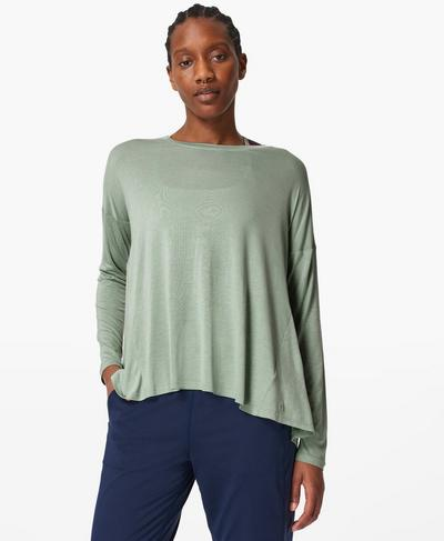 Easy Peazy Top, Marina Green | Sweaty Betty