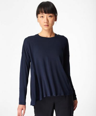Easy Peazy Top, Navy Blue | Sweaty Betty