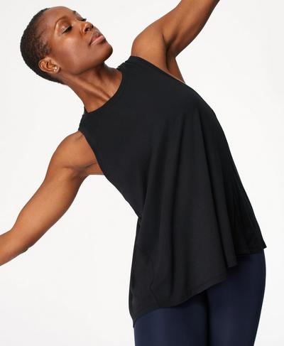 Easy Peazy Tank, Black | Sweaty Betty