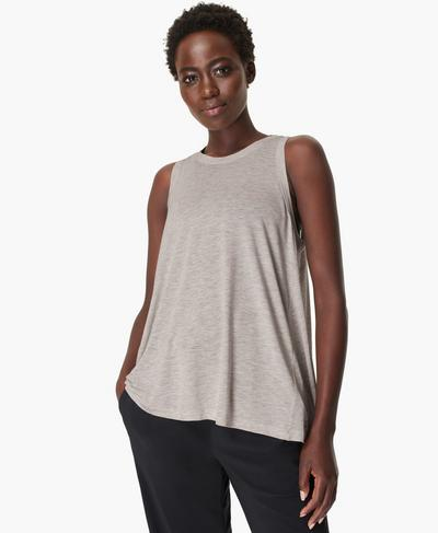 Easy Peazy Vest, Light Grey Marl | Sweaty Betty