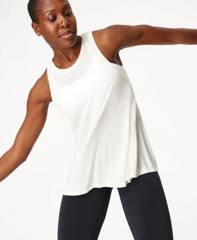 Easy Peazy Vest, Lily White | Sweaty Betty