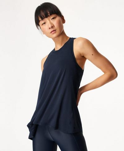 Easy Peazy Vest, Navy Blue | Sweaty Betty
