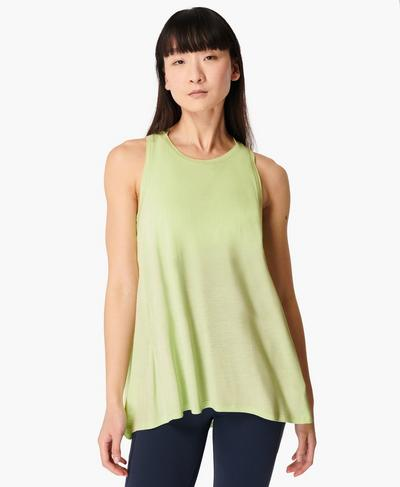 Easy Peazy Tank, Utopia Green | Sweaty Betty