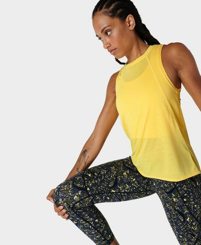 Pacesetter Running Vest, Butter Yellow | Sweaty Betty