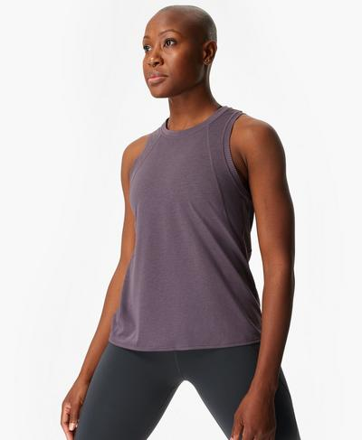 Pacesetter Running Vest, Fig Purple | Sweaty Betty