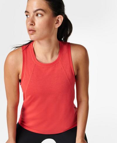 Pacesetter Running Vest, Pentas Red | Sweaty Betty