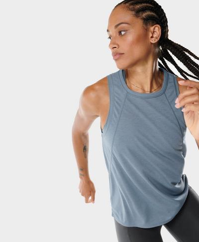 Pacesetter Running Vest, Steel Blue | Sweaty Betty