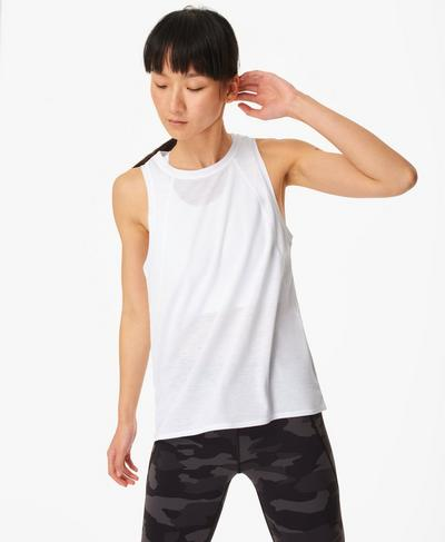Pacesetter Running Tank, White | Sweaty Betty