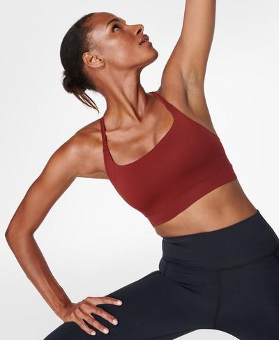 Foundation Seamless Padded Yoga Bra, Falu Red | Sweaty Betty