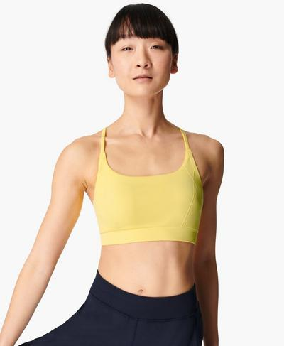 Foundation Seamless Padded Yoga Bra, Riviera Yellow | Sweaty Betty