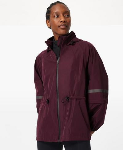 Mission Performance Jacket, Plum Red | Sweaty Betty