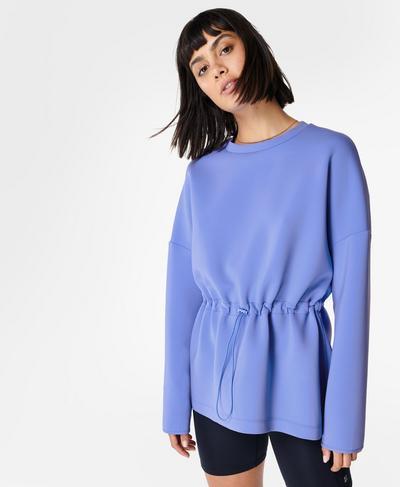 Grace Sweatshirt mit Rundhalsausschnitt, Cornflower Blue | Sweaty Betty