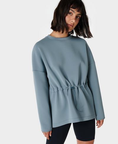 Grace Scuba Sweatshirt, Steel Blue | Sweaty Betty