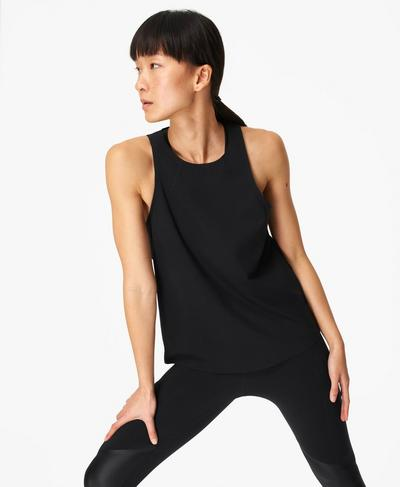 Power Mission Gym Tank, Black | Sweaty Betty