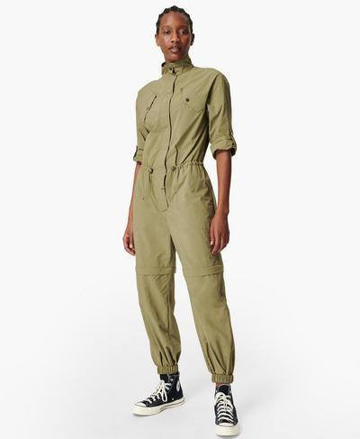 Interstellar Boilersuit, Moss Green | Sweaty Betty