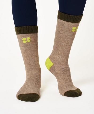 Hiking Socks, Dark Forest Green | Sweaty Betty