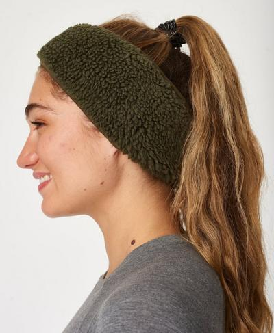 Sherpa Earwarmer, Dark Forest Green | Sweaty Betty