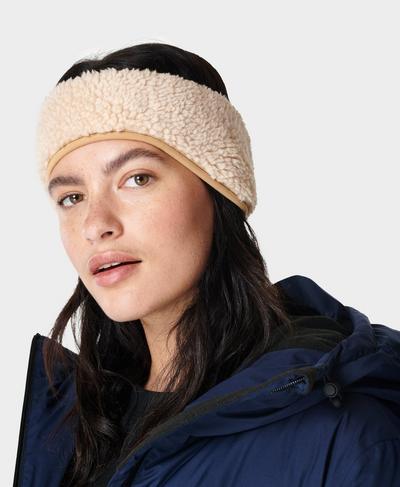 Sherpa Earwarmer, Lily White | Sweaty Betty