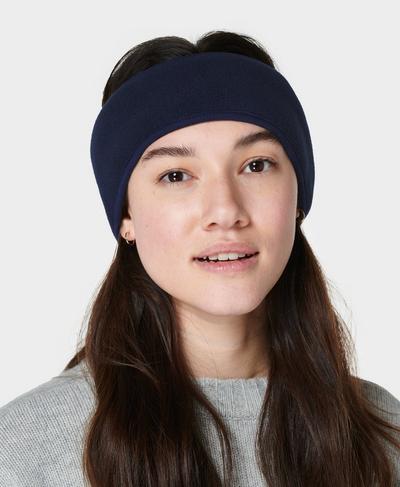 Sherpa Earwarmer, Navy Blue | Sweaty Betty