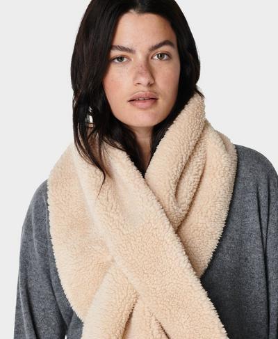 Sherpa Pocket Scarf, Lily White | Sweaty Betty