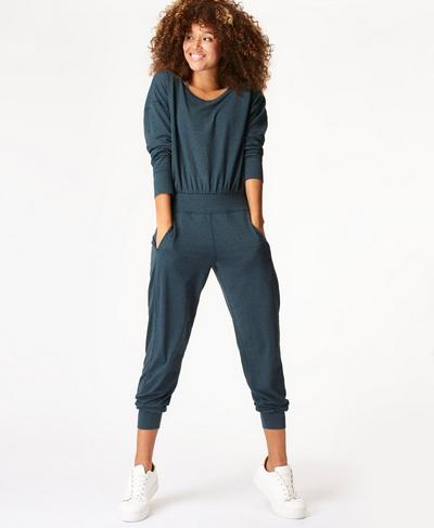 Gary Long Sleeve Jumpsuit, Beetle Blue | Sweaty Betty