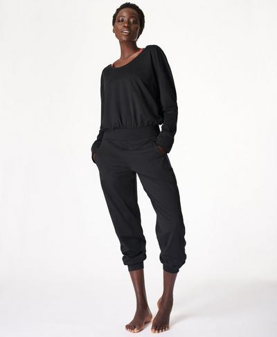 Gary Long Sleeve Jumpsuit, Black | Sweaty Betty