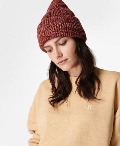 Rib Merino Knit Hat, Falu Red | Sweaty Betty