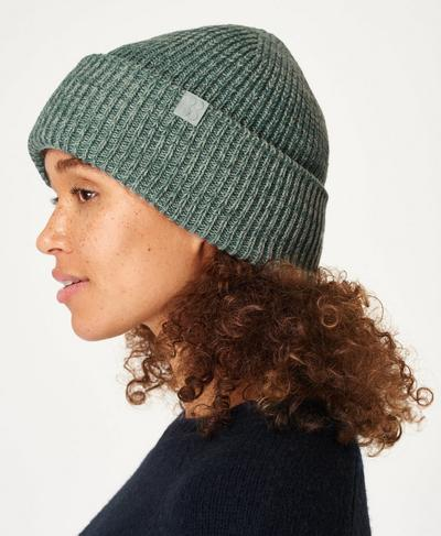 Rib Merino Knit Hat, Tile Green | Sweaty Betty