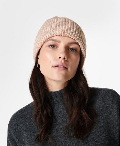 Rib Merino Knit Hat, Vanilla White | Sweaty Betty