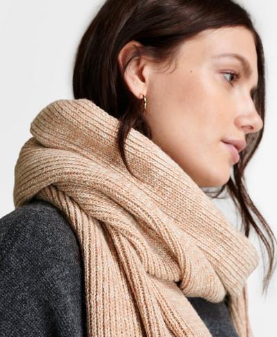 Texture Merino Knitted Scarf, Vanilla White | Sweaty Betty